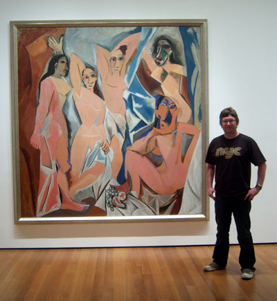DJ CS Wallace at the Museum Of Modern Art, New York City, with Picasso's Original Masterpiece