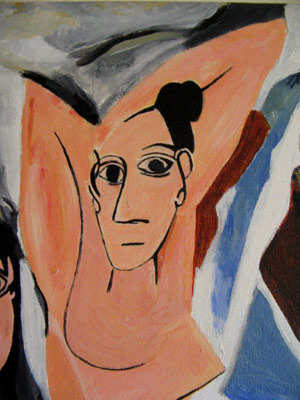 Close up of Les Demoiselles D'Avignon' by CS Wallace, 1996
