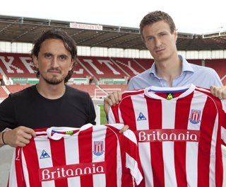 Thwo fanastic signings for Stoke City - Huth and Tuncay!