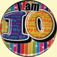 I am 10 badge - celebrating 10 years of djcswallace.co.uk online!